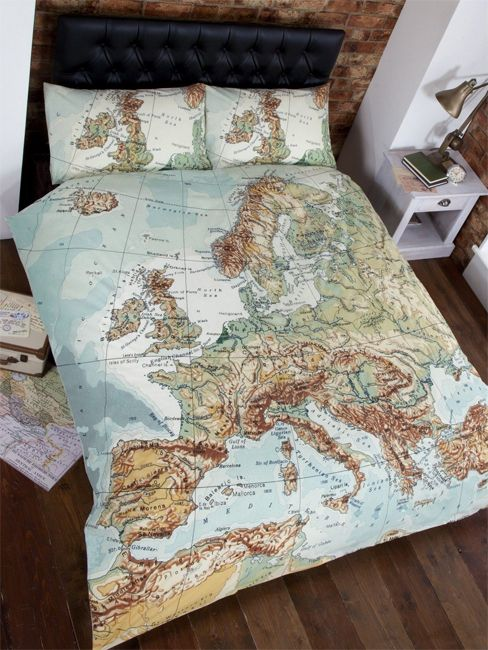 14 best maps and navigation images on pinterest vintage cards map bedding vintage europe map design double duvet cover gumiabroncs Gallery