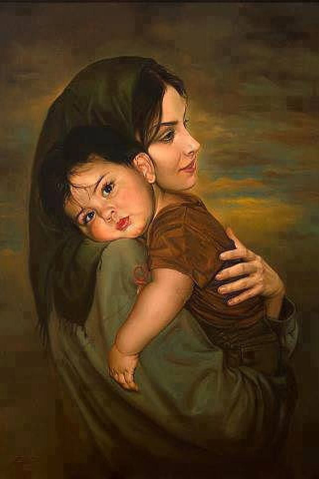 Mother with Child by Mitra Shadfar