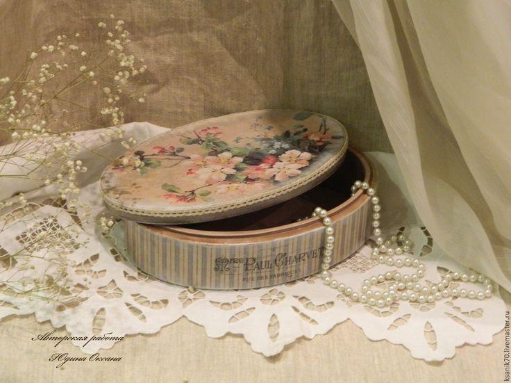 """Купить Шкатулка  короб  """"  Яблони в цвету"""" для украшений, рукоделия. - короб для хранения, короб"""