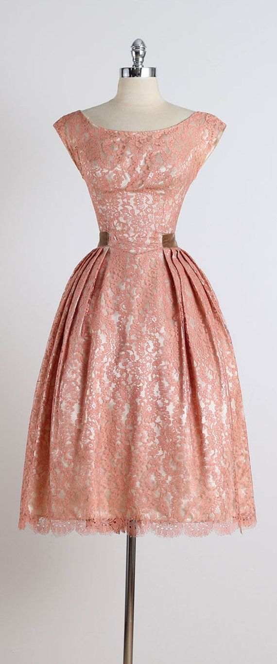 Gilded Affair . vintage 1950s dress . vintage by millstreetvintage