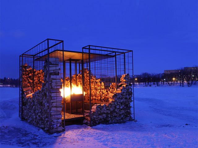 Firewood Metal Frames And Architecture On Pinterest