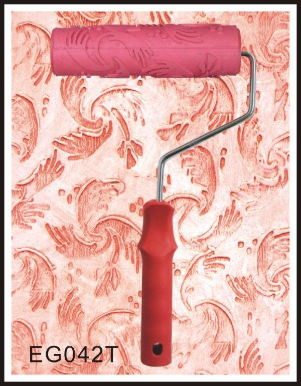 7 inch Flower Patterned Paint Roller Rubber Roller Liquid Wallpaper with Handle…