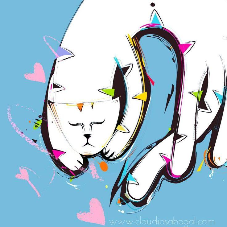 "71 Me gusta, 4 comentarios - Claudia Sabogal G. (@cgrafica) en Instagram: ""En proceso.... #catslover #illustration #gatos #cats #drawing #love #creative #graphicdesign…"""