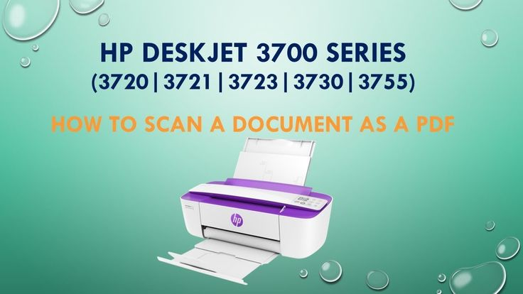 Hp deskjet 3720 3721 3730 3755 scan a document as