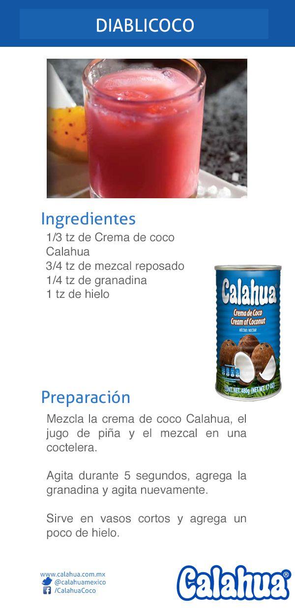 Este es un clásico coctel hecho con crema de coco Calahua, el Diablicoco.
