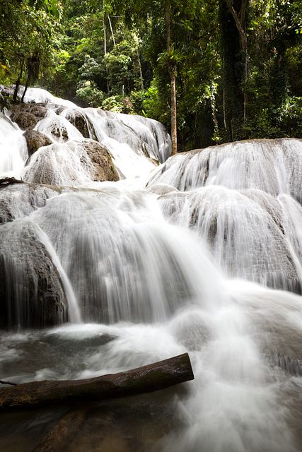 Saluopa waterfall near Tentena, central Sulawesi, indonesia