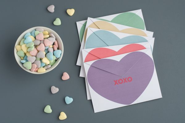 Give your Valentines conversation heart envelopes filled with love!