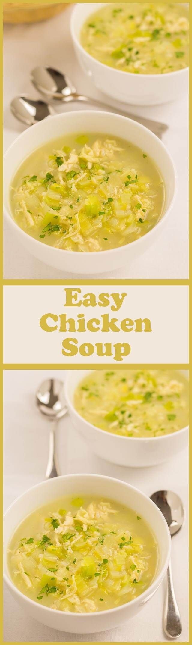 This easy chicken soup recipe is a great quick healthy meal to put together if you don't have the luxury of left over chicken lying about. It's made from just one chicken breast, leek, onion, rice and stock. It's as simple as that. It tastes absolutely de (chicken ideas quick)