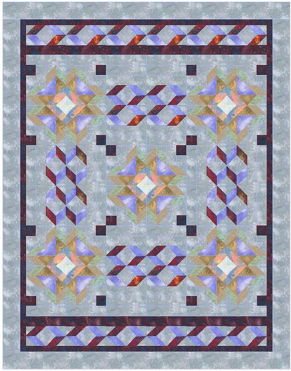 17 Best images about Quilts (diamonds and triangles) on Pinterest Triangle quilts, Tumbling ...