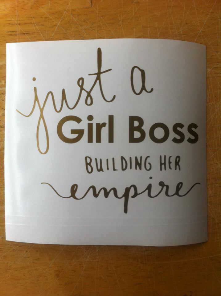 New Girl Boss decal for my car!!! LVE!!                               …