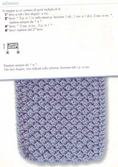 Lavorare a maglia: punto mimosa per la Festa della donna