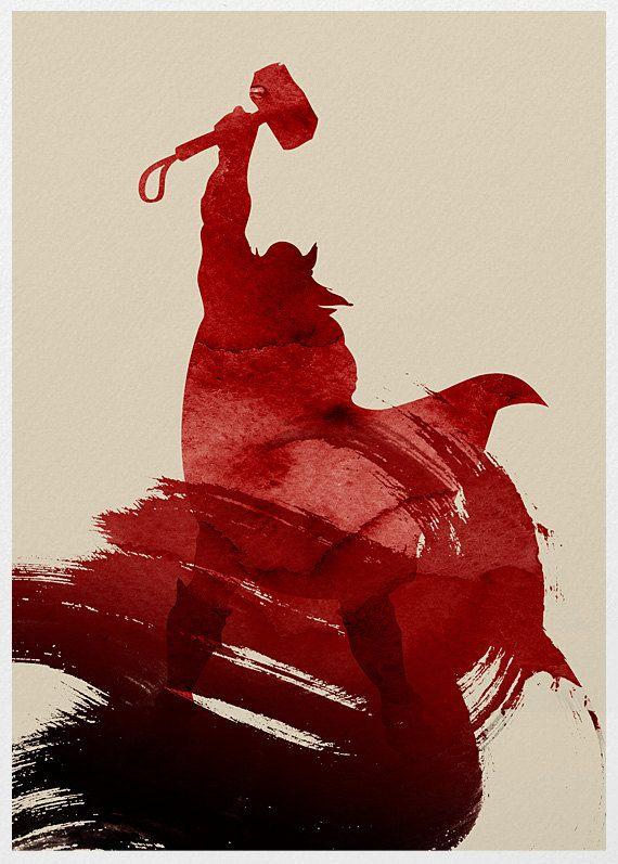 The Avengers Thor Movie Poster A3 Print by sanasini on Etsy, $18.00 #yǎnfú