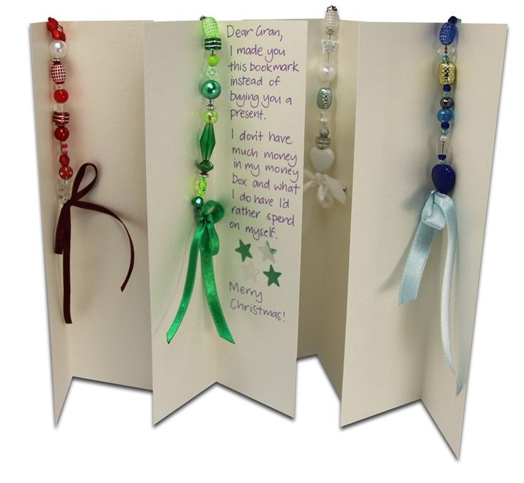 Beaded Bookmarks - a simple and inexpensive gift to add to a birthday or holiday card. jellyfishjelly.com