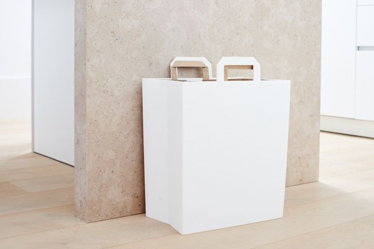 RE.BIN is an attractive alternative to the traditional recycling bin, designed to maximize efficiency for residential and commercial disposal.  Made from 100% recycled plastic, RE.BIN is designed to be used with standard paper grocery bags for an easy, clean, sustainable recycling experience.