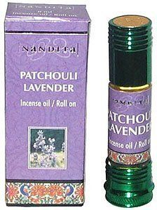 Patchouli Lavender - Nandita Incense Oil/Roll On - 1/4 Ounce Bottle by Nandita Incense Oil/Roll On. $8.99. Nandita pure and natural incense oil, free from alchohol. Use as perfume, in an aroma lamp, in bath water, with potpourri, or with carrier oil for massage, etc. 8 ml bottle, which is about 1/4 ounce. Includes roll on and dropper applicators.