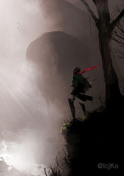 Mikasa and the rogue titan