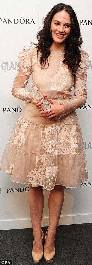 Jessica Brown Findlay (in Valentino) took the Best UK Actress accolade at the Glamour Women of the Year Awards.