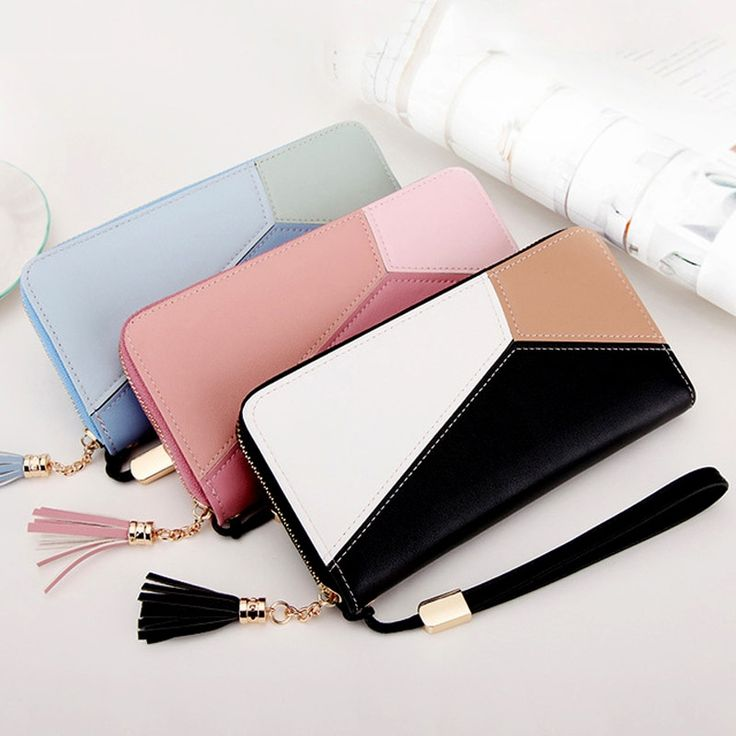 Big Capacity Women Leather Long Wallet (3 colors)