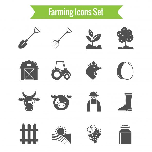 Download Black And White Farm Icons For Free Icon Set Icon Agriculture