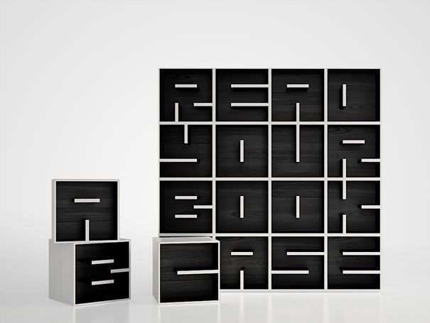 Nominated as the Selected Design in the Young & Design 2010, this stylish bookshelf will always work as a good reminder to read what you have put in ti. (Designers: Eva Alessandrini & Roberto Saporiti)