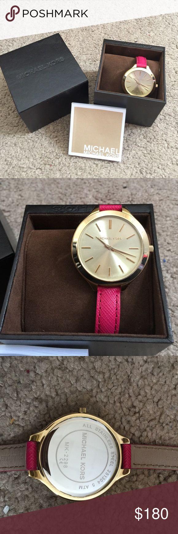 Brand new Michael Kors watch Brand new Michael Kors watch. Pink leather band. Michael Kors Accessories Watches