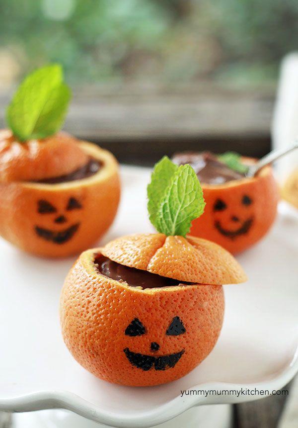 Pumpkin chocolate pudding #halloween