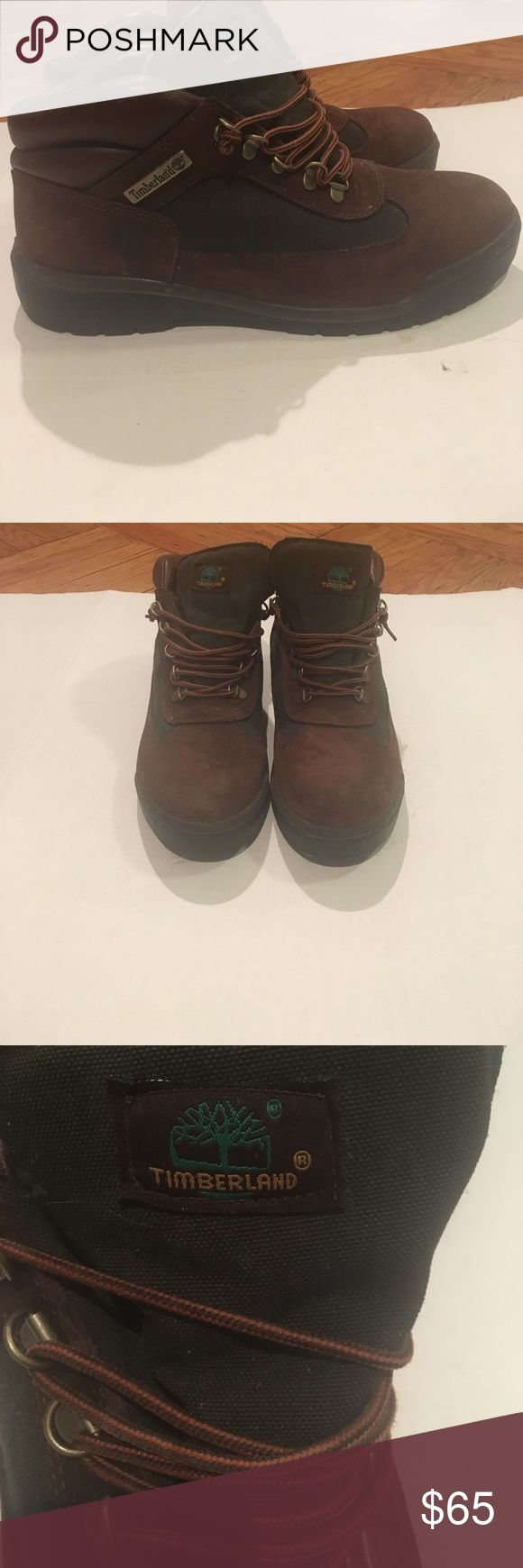 Brown and green timberland field boots Brown and green timberland field boots Timberland Shoes Boots