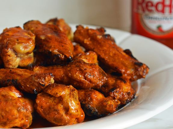 Grilled Chicken Wings with Seasoned Buffalo Sauce - Once Upon a Chef