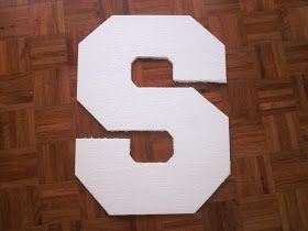 MrsMommyHolic: DIY Styrofoam Letters (how to cut & paint styrofoam)
