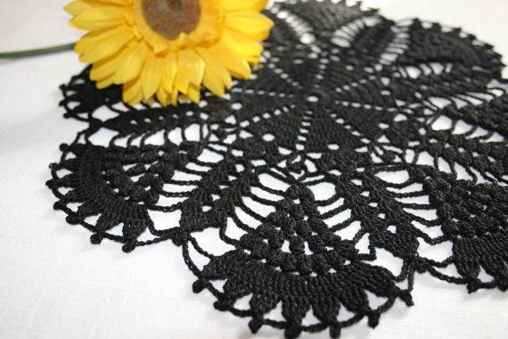 Black crochet doily black crochet doily lace by BeautyByLuchka, $13.00