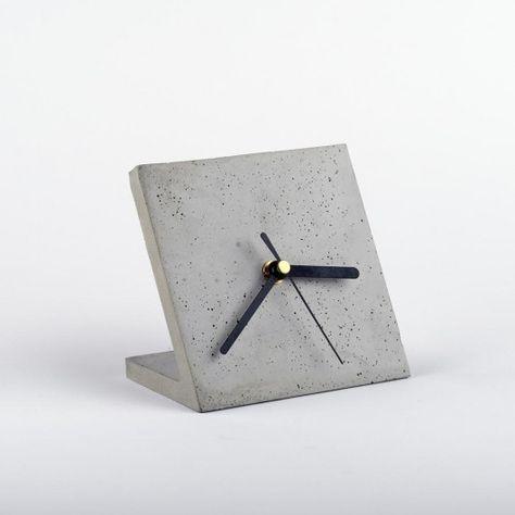dodatki - zegary-Zegar biurkowy - beton architektoniczny