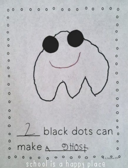 Dot day or 10 black dots book activity.