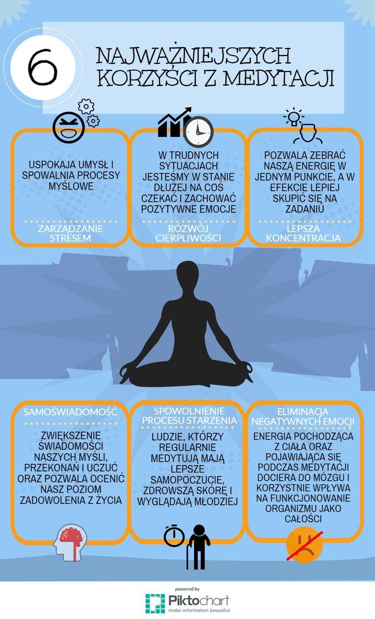 6 korzyści z medytacji #medytacja #oddychaj #100club