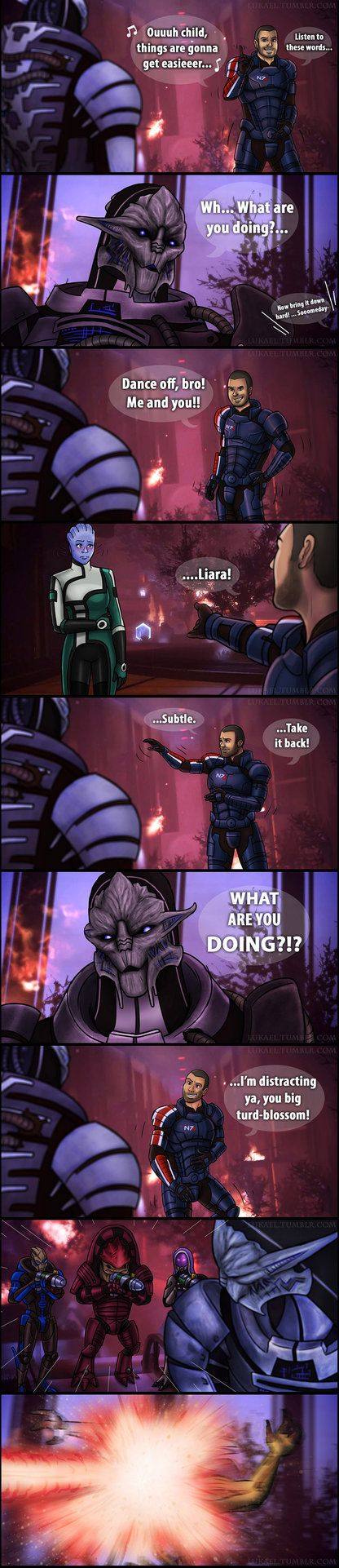 And nobody made fun of Shepard's dancing ever again A little Mass Effect / Guardians of the Galaxy crossover I thought would be fun. But then it turned out taking a whole week to finish. OH WELL