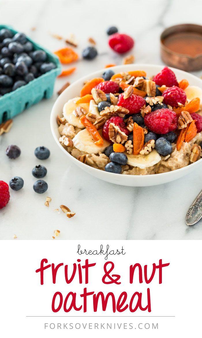 Breakfast Fruit and Nut Oatmeal