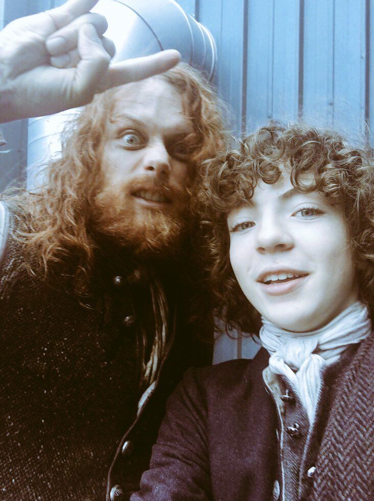 Here is a NEW BTS Pic of Sam Heughan and Romann Berrux SOURCE