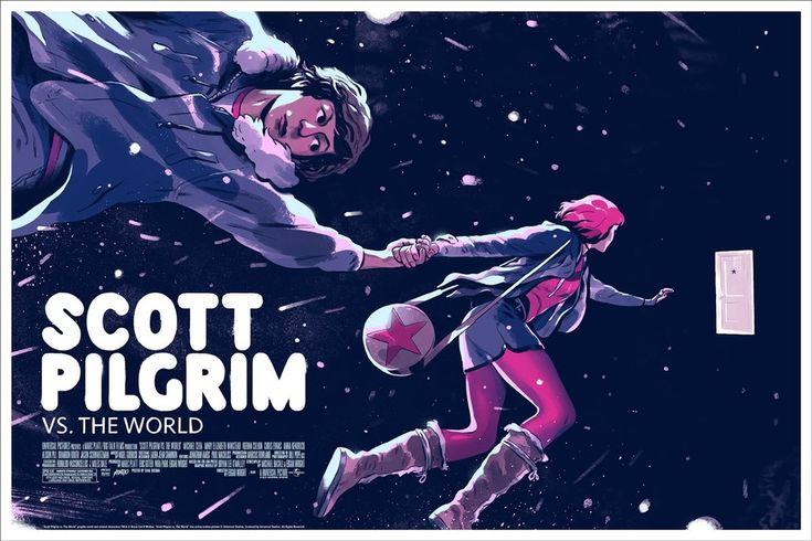 Scott Pilgrim vs. The World Movie Poster Screen Print by Sam Bosma x Mondo
