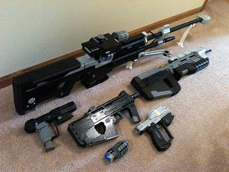 how to build a lego halo sniper rifle