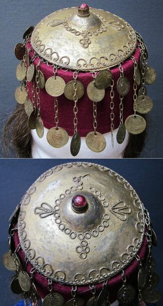 Tepelikli fes (woman's hat with silver cover). Sivas / Turkey. Late-Ottoman Armenian.