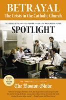 The investigative staff of the Boston Globe received the Pulitzer Prize for Public Service in 2003 for its reporting on the crisis in the Catholic Church. The book was written by Boston Globe reporters Matt Carroll, Kevin Cullen, Thomas Farragher, Stephen Kurkjian, Michael Paulson, Sacha Pfeiffer, Michael Rezendes, and Walter V. Robinson.