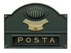 FerramentaOnline SHOP: Buca lettere ghisa e ottone verniciato con citifono A5OL 24x34cm