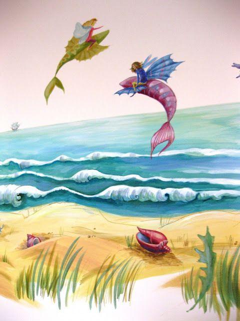 Maluj mi: Morskie opowieści- pokój dla dziewczynki z morskim...