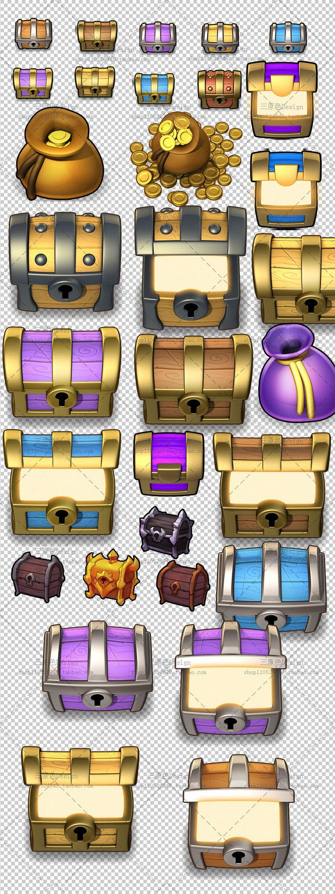 游戏宝箱图标 游戏UI图标素材资源PNG...
