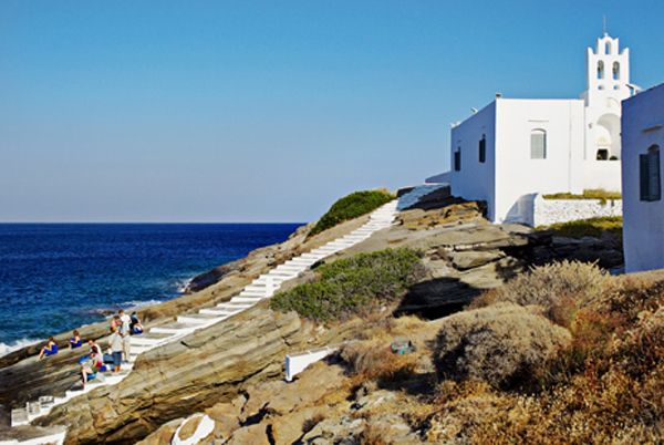 Chrysopigi church, Sifnos island, Greece #destinasionwedding #islandchurch #sifnoswedding See more:http://www.love4weddings.gr/romantic-greek-island-wedding/