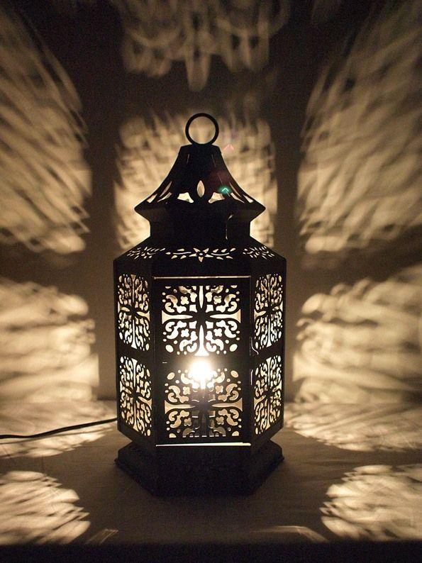 【モロッコ風ランプ】切り柄モロッコランプBK【SS】
