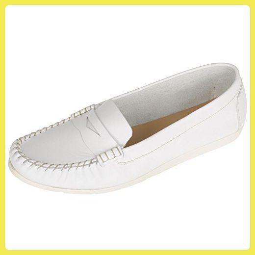 Tamaris 1-24210-26 Damenschuhe Leder Slipper white (40) - Slipper und mokassins für frauen (*Partner-Link)