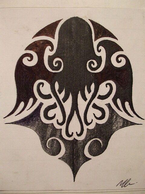 Cthulhu tribal design