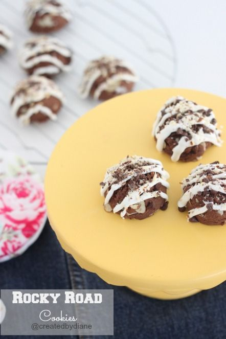 Rocky Road Cookies @createdbydiane: Cookie Monster, Cookies Bars Cupcakes, Baking Cookies, Rocky Road Cookies Recipe, Sweet Tooth, Food Cookies, Cookie Recipes