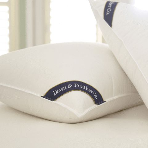 "Snuggle Soft 700 Fill Power Goose Down Pillows - Queen (20"" x 30"")"