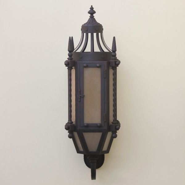 7048 3 Hand Forged Wrought Iron Gothic